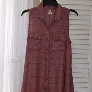 mudd button up dress